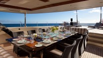 Sailing yacht TIARA -  Al fresco dining on deck