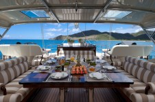 Sailing yacht TIARA -  Upper deck dining