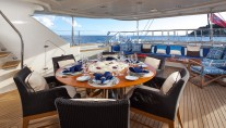 Sailing yacht VICTORIA -  Al Fresco Dining on Deck