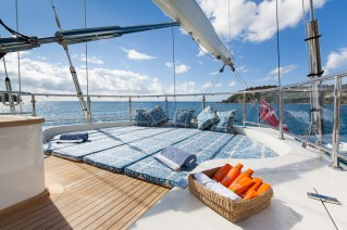 Sailing yacht VICTORIA -  Sunpads on Deck