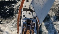 Sailing yacht ZUMA - From Above