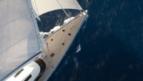 Sailing yacht Zefira From Above