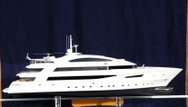 Scale model of the 50m superyacht Beatrix by Cantieri Navali di Termoli