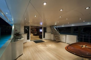 Serque superyacht with exterior lights by Underwater Lights Ltd Photo- M. Paris