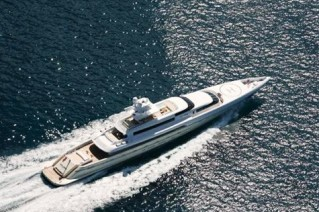 Silver Zwei Yacht from above
