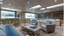 Skylounge aboard superyacht THUMPER. Photo credit Sunseeker yachts
