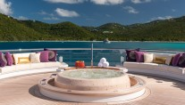Solandge Yacht - Spa Pool at top deck - Photo by Klaus Jordan
