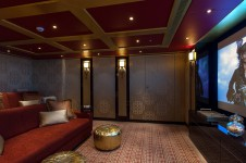 Solandge superyacht - Cinema - Photo by Klaus Jordan