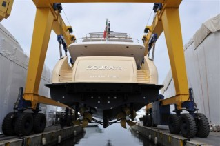 Souraya-superyacht-at-her-launch-rear-view