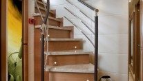 Staircase with marble treads - Superyacht Lady Jane 2010