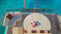 Sunbathing area on biard of the superyacht Red Pearl by MCP Yachts