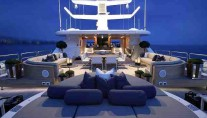 Sundeck of the 2009 luxury charter yacht CANDYSCAPE II