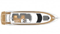 Sunseeker Manhattan 63 Yacht from above - Image courtesy of Sunseeker