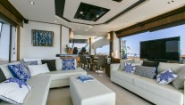 Sunseeker yacht 73M - Salon view to dining