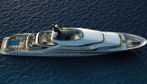 Super Luxury Yacht Oceanco Y708 from above