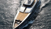 Super Yacht Exuma from above - photo  courtesy of Perini Navi