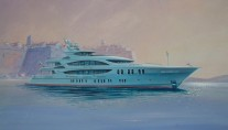 Super Yacht Lady Linda Painted
