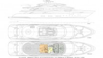 Super Yacht O'PARI3 - Layout