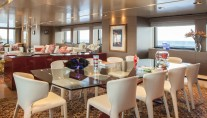 Super Yacht SARAMOUR - Main Saloon Dining