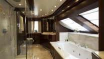 Super Yacht Santa Domenica - Owners Head featuring luxurious white onyx
