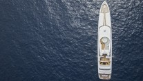 Super Yacht Turquoise from above