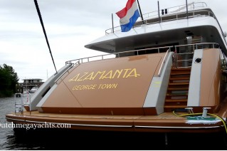 Super yacht AZAMANTA - aft view - Photo by Dutchmegayachts