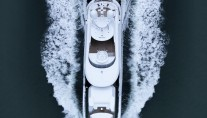 Super yacht Asya from above - Photo by Dick Holthuis
