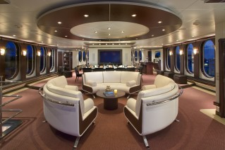 Super yacht GLOBAL - saloon