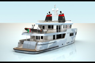 Super yacht Ocean King 100 - aft view