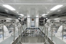 Super yacht Solandge - Engine Room - Photo by Klaus Jordan