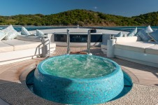 Super yacht Solandge - Spa Pool at owners deck - Photo by Klaud Jordan