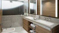 Super-yacht-Princess-30M-Stateroom-Bathroom