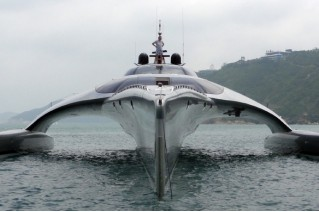 Superyacht Adastra - bow