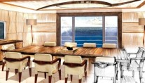 Superyacht Amels 199 Magnificent Dining Area with full sea view