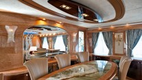 Superyacht Amer 100 - Dining Area