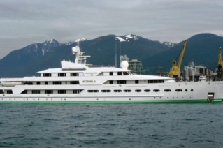 Superyacht Attessa IV before her extensive refit.