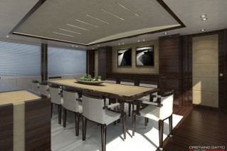 Superyacht Azul - Dining