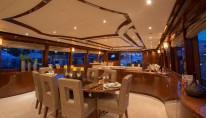 Superyacht Carbon Copy - Dining - Photo by Quin Bisset