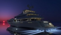 Superyacht Egeria by Night