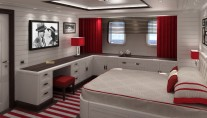 Superyacht FOREVER ONE - Guest cabin