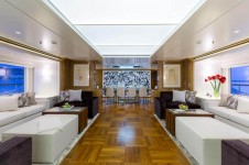 Superyacht GALAXY -  Salon looking forward