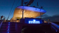 Superyacht HOUBARA by night