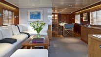 Superyacht Heavenly Daze - Main Saloon - Image coutesy of Pendennis