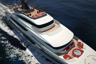Superyacht Hull C04 from above