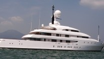 Superyacht ILONA at anchor