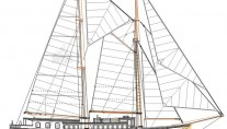 Superyacht Imagination - Sail Plan - Omage courtesy of Dream Ship Victory
