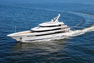 Superyacht Joy on her sea trial - image copyright Feadship