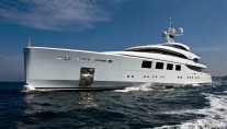 Superyacht NATALY at her sea trials in Italy - images by Benetti Yachts