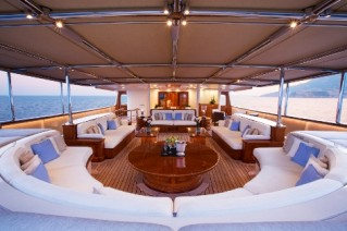 Superyacht NERO - Middle Deck Al fresco seating
