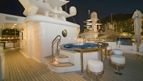 Superyacht NOBLE HOUSE -  Top Deck Spa Pool and Bar